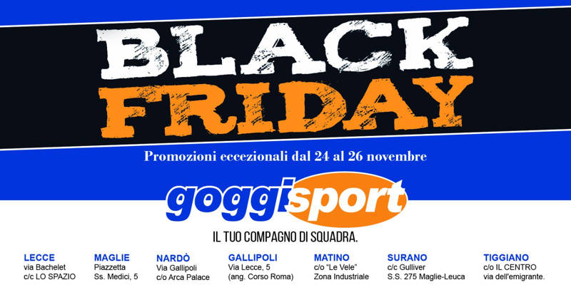 Black Friday da Goggi Sport